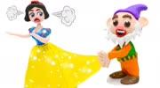 小矮人誤入白雪公主的房間,當看到她脫下鞋子的一刻,真的蒙了