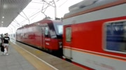 北京開往莫斯科的K3次國際列車 東風花老虎牽引駛入京包線
