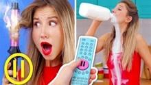 挑战pranks:这样喝牛奶恶作剧战争!