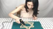 巧用一次性旧筷子,打造高颜值置物架